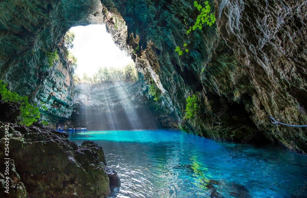 Fototapeta Famous melissani lake on Kefalonia island - Greece