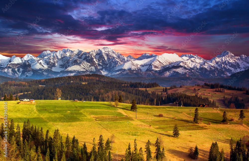 Fototapety, obrazy: Polish mountains Tatry