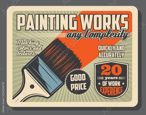 Brush and paint, painting tool equipment Wall mural