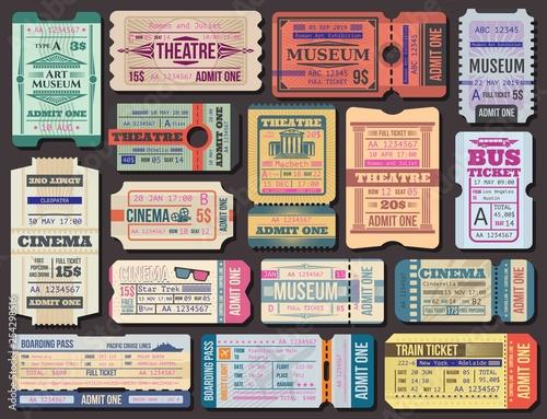 Fotografía  Ticket to movies, theatre or museum, boarding pass