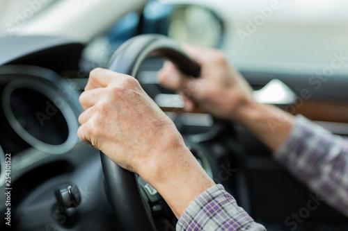 Obraz シニア 運転 - fototapety do salonu