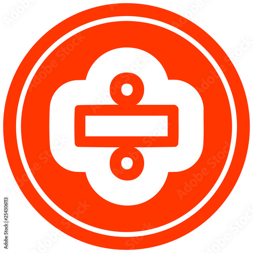 Photo  division sign circular icon