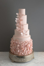 Trendy Pink Wedding Cake With ...