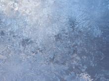 Cobblestone Pattern From Ice On A Window Pane