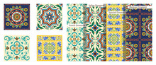 French Background, Mexican Pattern, Italian Ornaments, Colorful Spanish Decor.