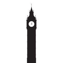 Big Ben Vector Silhouette