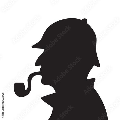 Sherlock holmes silhouette Wallpaper Mural