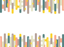 Abstract Colorful Dash Stripe Lines Pattern Of Minimal Background. Modern Design For Artwork, Ad, Poster, Web, Book, Print.