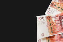 Fifty Pound Sterling Banknotes