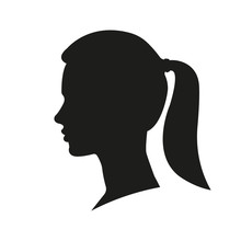 Woman Face Silhouette. Girl Wi...