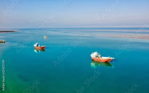 Fényképezés  Tradition Lenj Fishing Boat in Qeshm Island in Southern Iran, taken in January 2