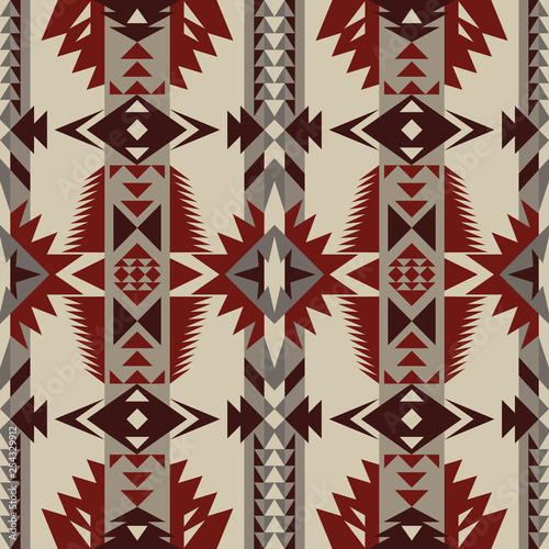 Aztec Geometric Seamless Pattern Native American Indian