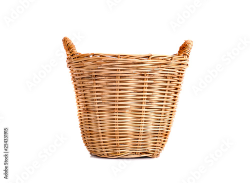 Fotografie, Obraz  Basket wicker on isolated white background