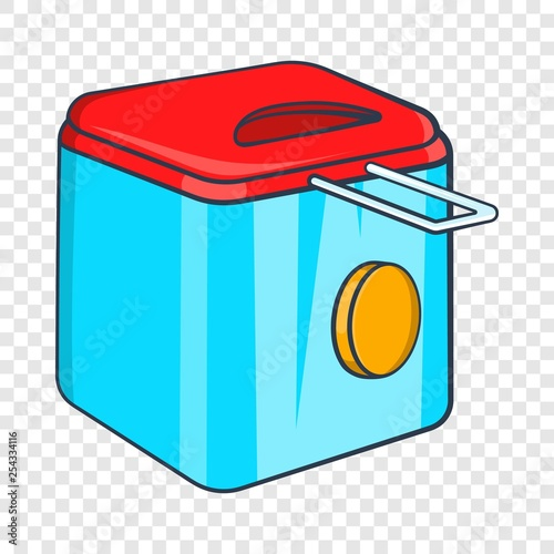 Fotografía  Fryer icon in cartoon style isolated on background for any web design