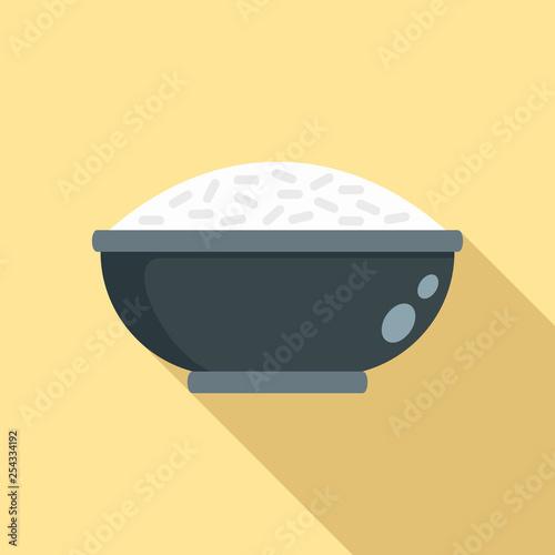 Fotografie, Obraz  Cooked rice bowl icon