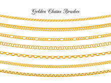 Golden Chains Brushes. Gold Me...
