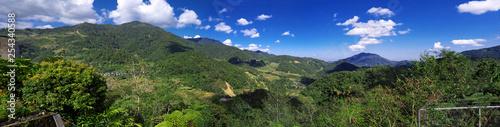 Spoed Foto op Canvas Blauwe hemel The rice terraces of Banaue, Philippines