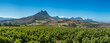 canvas print picture - Beautiful landscape of Cape Winelands, wine growing region in South Africa