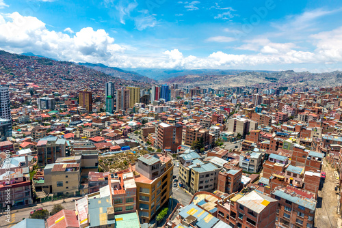 Foto  View of city, La Paz, Bolivia