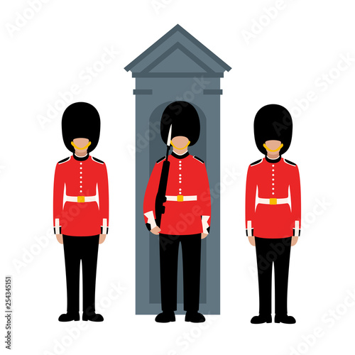 Photo  Queen's Guard, vector illustration, flat style
