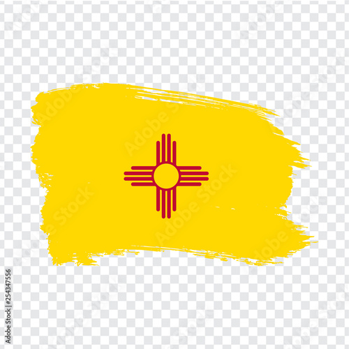 Flag of New Mexico from brush strokes Canvas Print