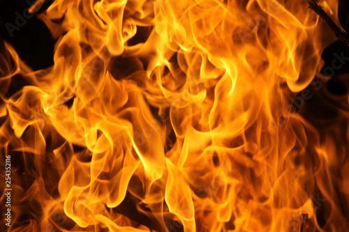 Fotobehang Vuur Fire flame texture background.