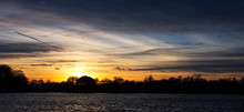 Sunset Over The Meare At Thorp...