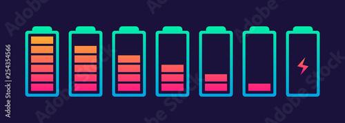 Obraz Vector battery symbol set - fototapety do salonu