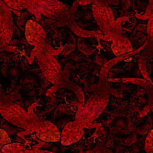Seamless Pattern Lizard