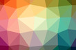 Illustration of abstract Green, Orange, Red, Yellow horizontal low poly background. Beautiful polygon design pattern.