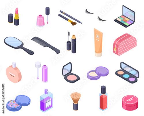 Isometric cosmetics Fototapet