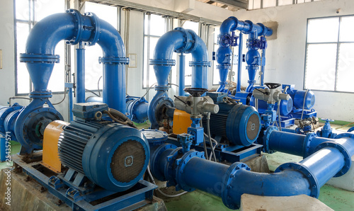 Fotografie, Obraz  The Water pump system of  water treatment plant