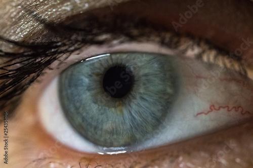 Fotobehang Macrofotografie Makroaufnahme eines menschlichen Auges