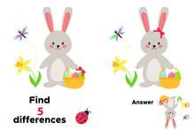 Cute Cartoon Kawaii Rabbit Wit...