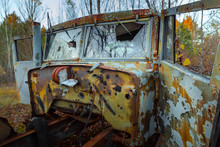 Abandoned Truck Left Outside