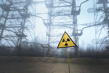 Radioactivity Sign In Chernobyl Outskirts 2019