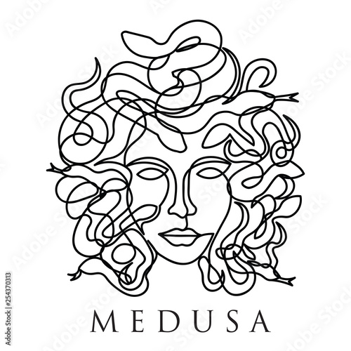 Medusa Head Regular Line Canvas Print