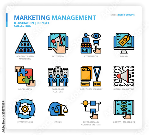 Photo Marketing Management icon set