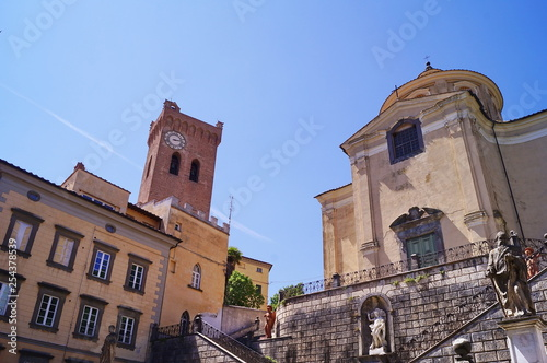 Photo  Church of the Holy Crucifix and Tower of Matilde, San Miniato, Tuscany, Italy