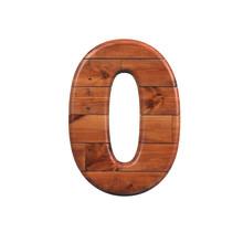 Wood Number 0 -  3d Wooden Pla...