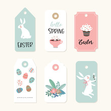 Set Of Cute Easter Gift Tags A...