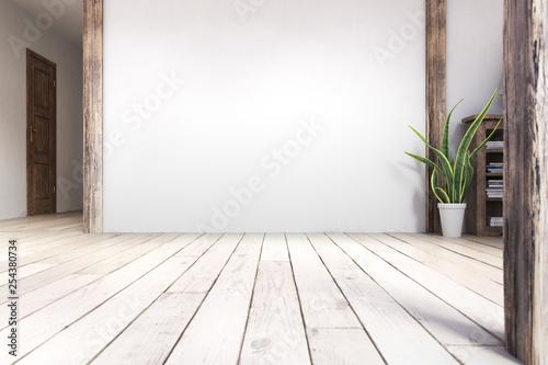 Fototapeta Scandinavian interior living room MockUp #1 obraz
