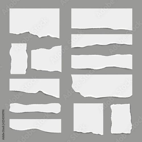 Ripped white paper Fotobehang