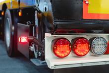 Car Trailer Brake Lights. Modern Lighting Equipment For Road Transport