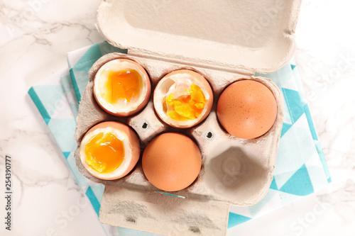 boiled egg in box