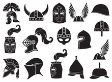 Military Helmets Vector Icons ...