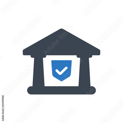 Fototapeta Secure banking icon obraz