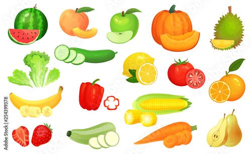 Fototapeta Sliced foods