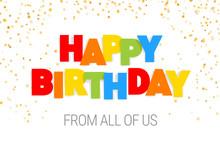 Happy Birthday Inscription In ...