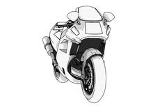 Sport Motorcycle Vector